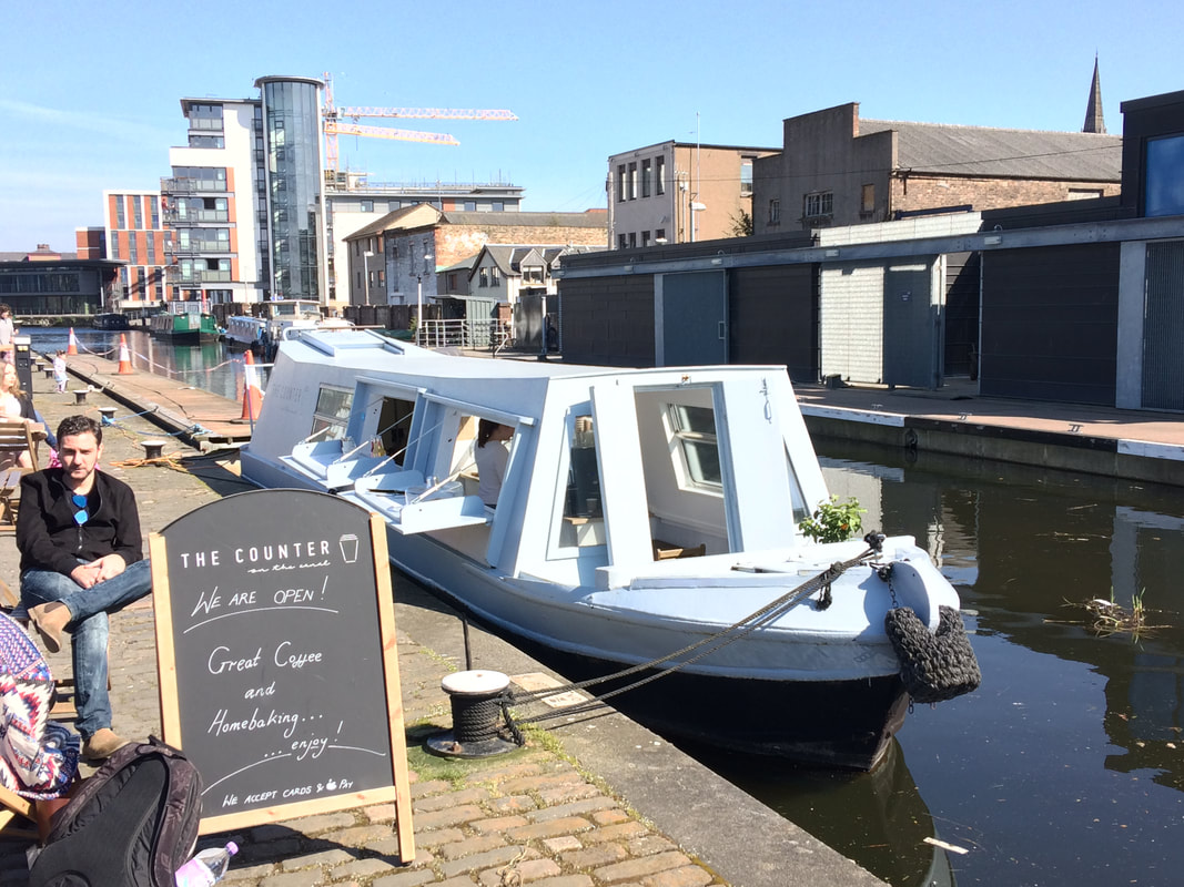 The coffee canal boat at Fountainbridge