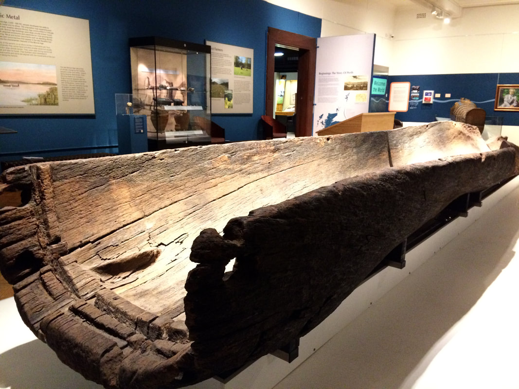 Log boat in Perth Museum and Art Gallery