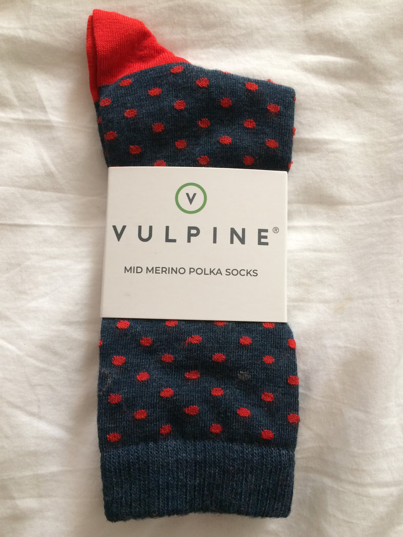 Vulpine polka dot merino cycling socks