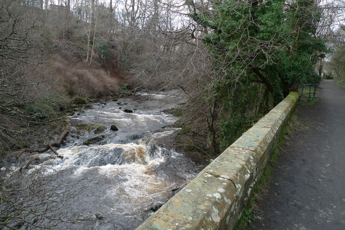 Cycle path to Balerno, crossing the Water of Leith