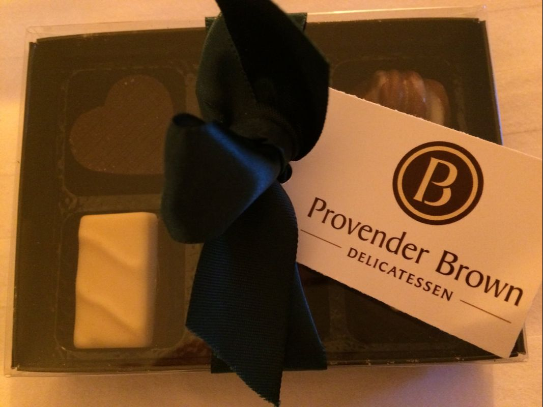 Chocolates from Provender Brown Deli in Perth